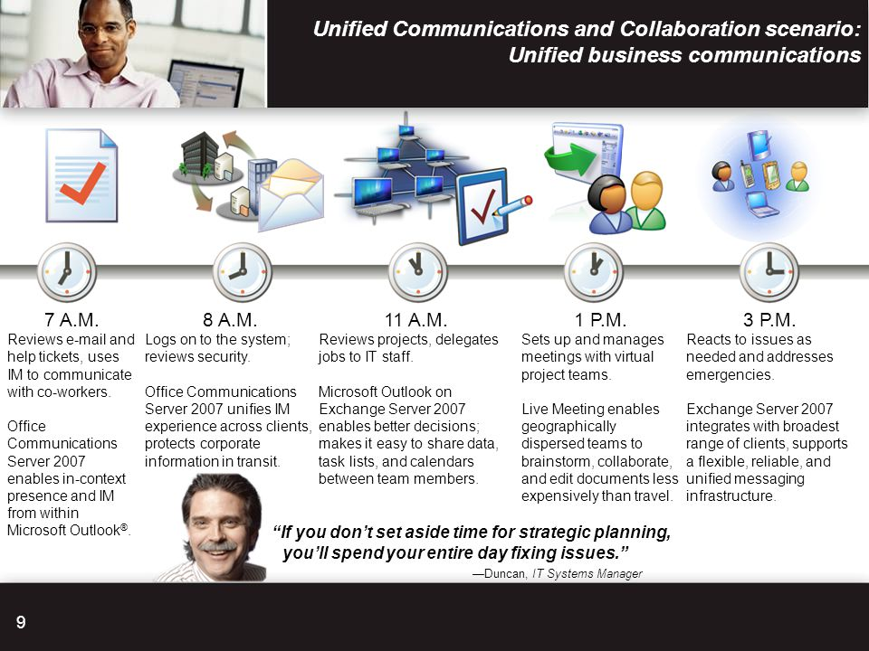 Unified Communications and Collaboration scenario: Unified business communications