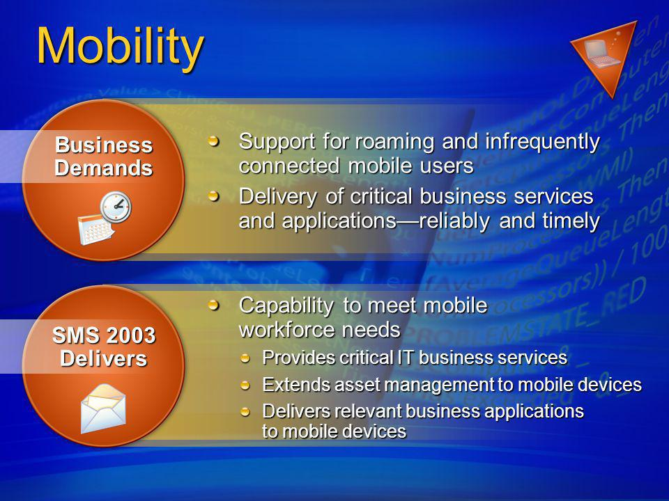 Mobility Support for roaming and infrequently connected mobile users