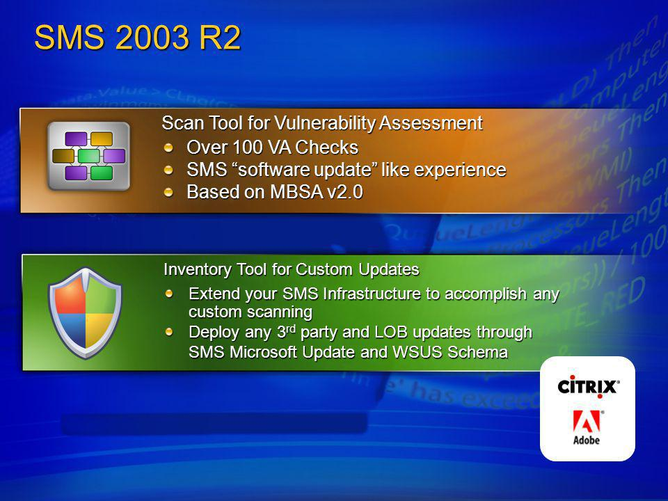SMS 2003 R2 Scan Tool for Vulnerability Assessment Over 100 VA Checks