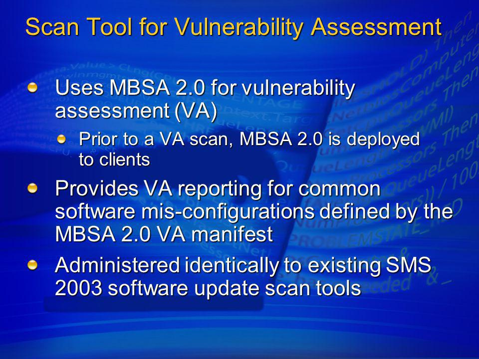 Scan Tool for Vulnerability Assessment