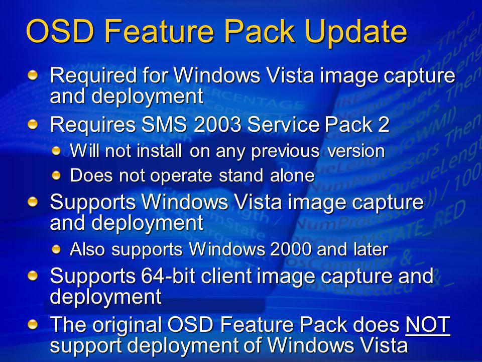 OSD Feature Pack Update