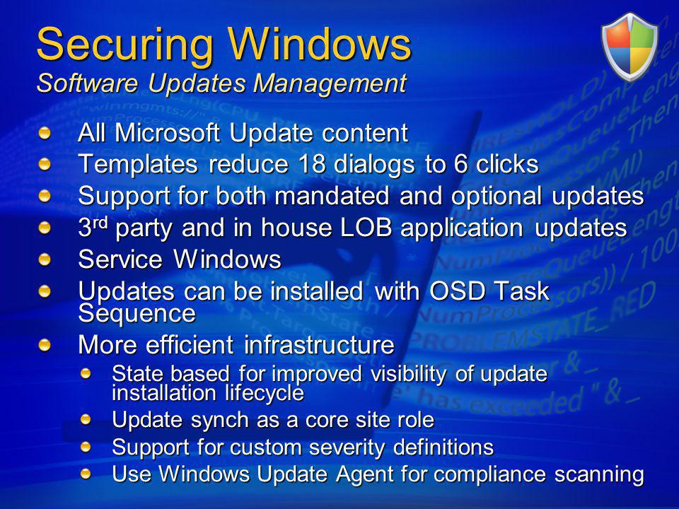 Securing Windows Software Updates Management