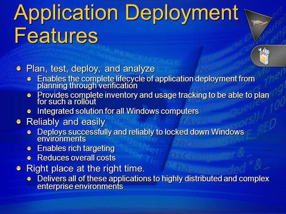 Application Deployment - Features