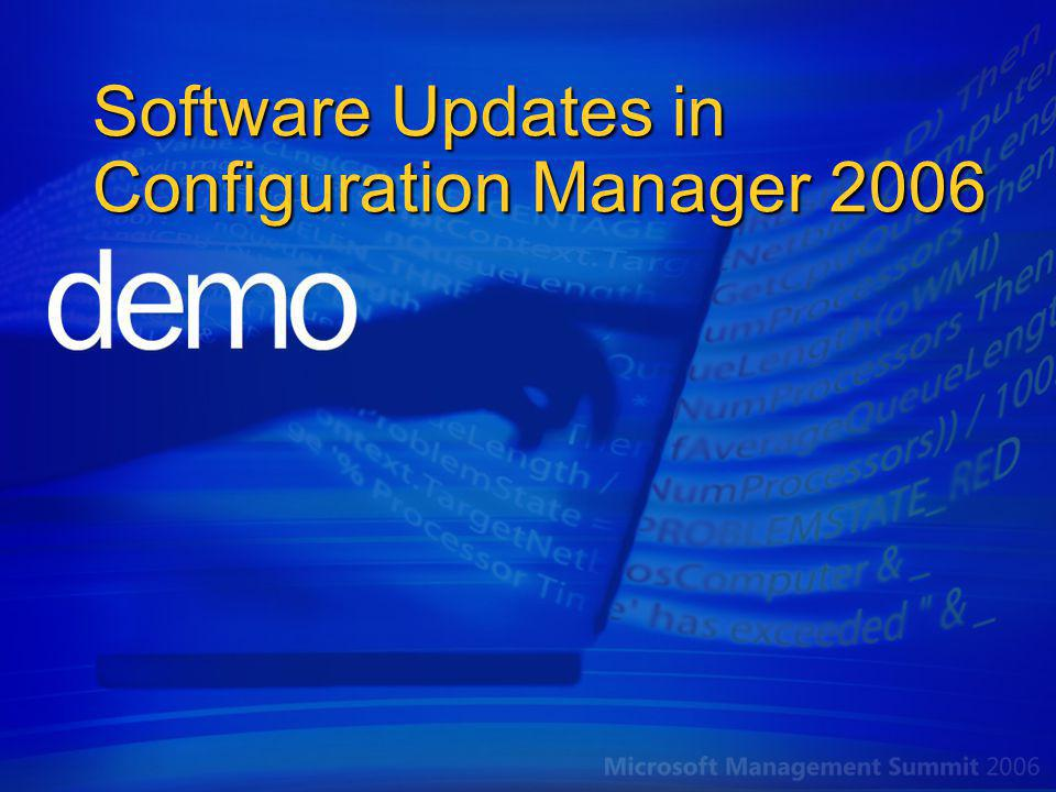 Software Updates in Configuration Manager 2006