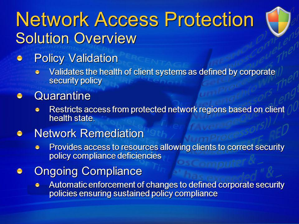 Network Access Protection Solution Overview