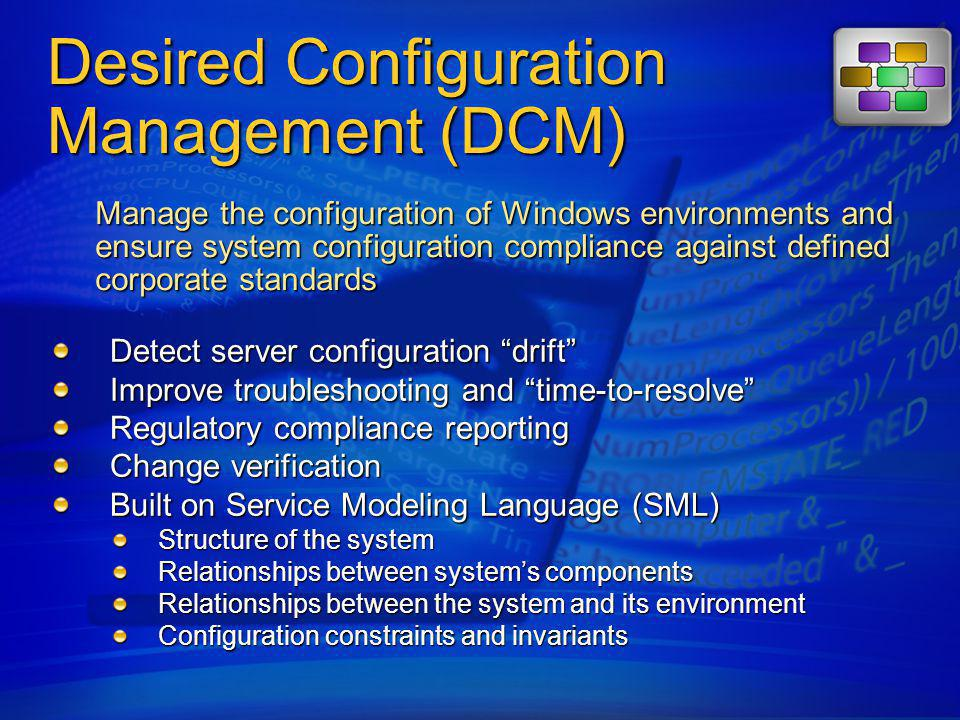 Desired Configuration Management (DCM)