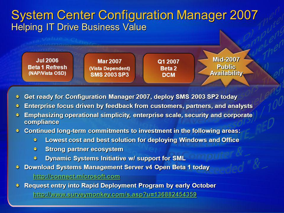 (Vista Dependent) SMS 2003 SP3