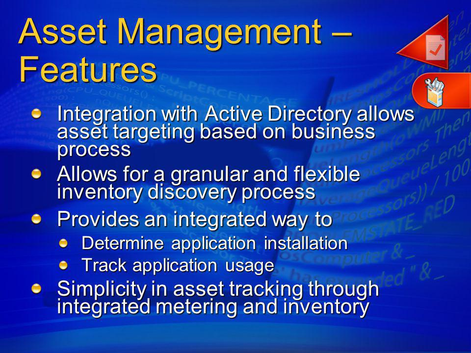 Asset Management – Features