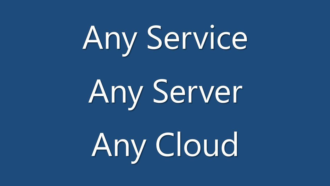 Any Service Any Server Any Cloud