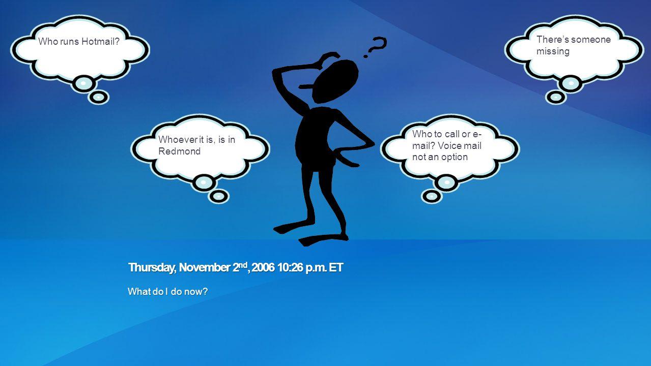 Thursday, November 2nd, 2006 10:26 p.m. ET