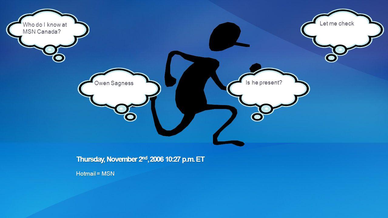 Thursday, November 2nd, 2006 10:27 p.m. ET