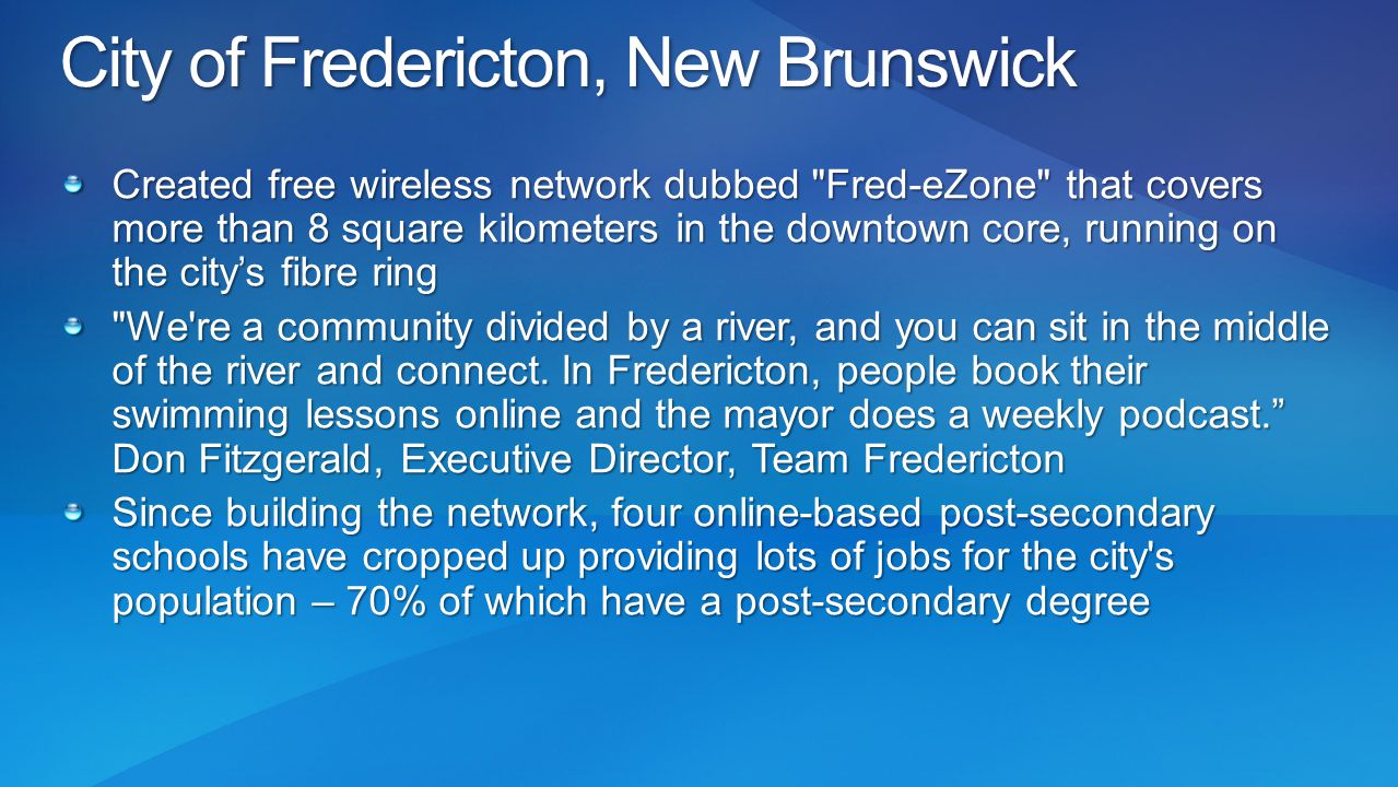City of Fredericton, New Brunswick