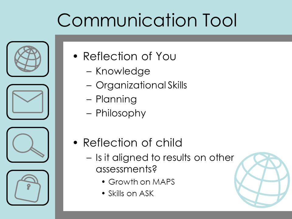 Communication Tool Reflection of You Reflection of child Knowledge