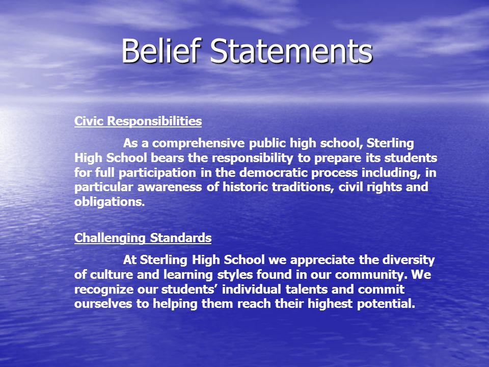 Belief Statements Civic Responsibilities Challenging Standards