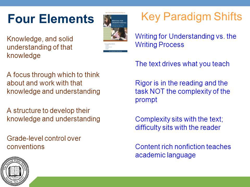 Four Elements Key Paradigm Shifts