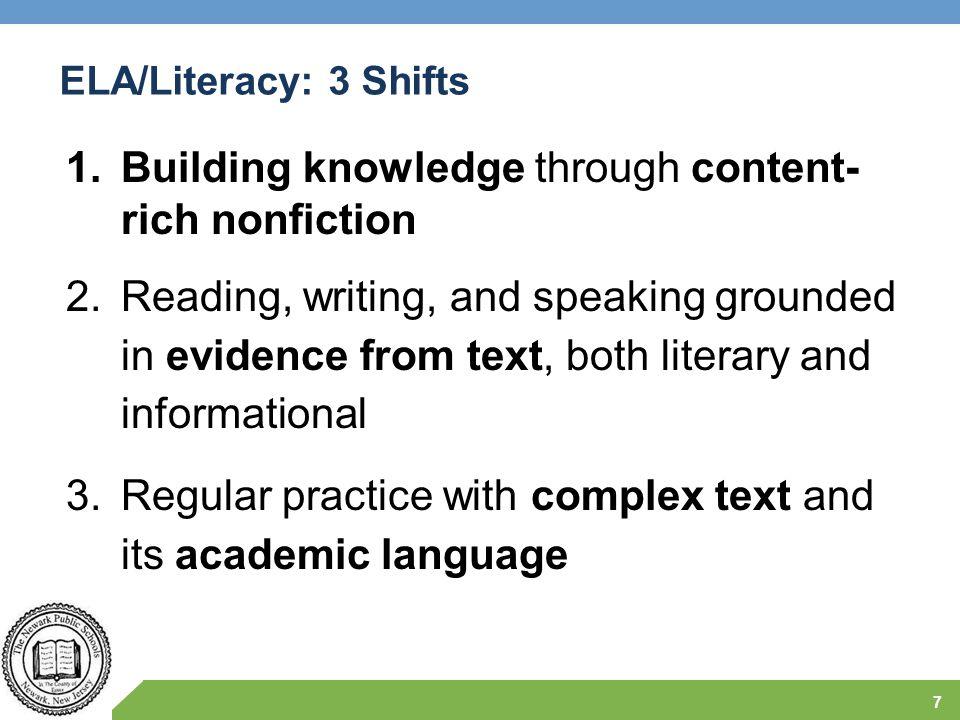 Building knowledge through content- rich nonfiction