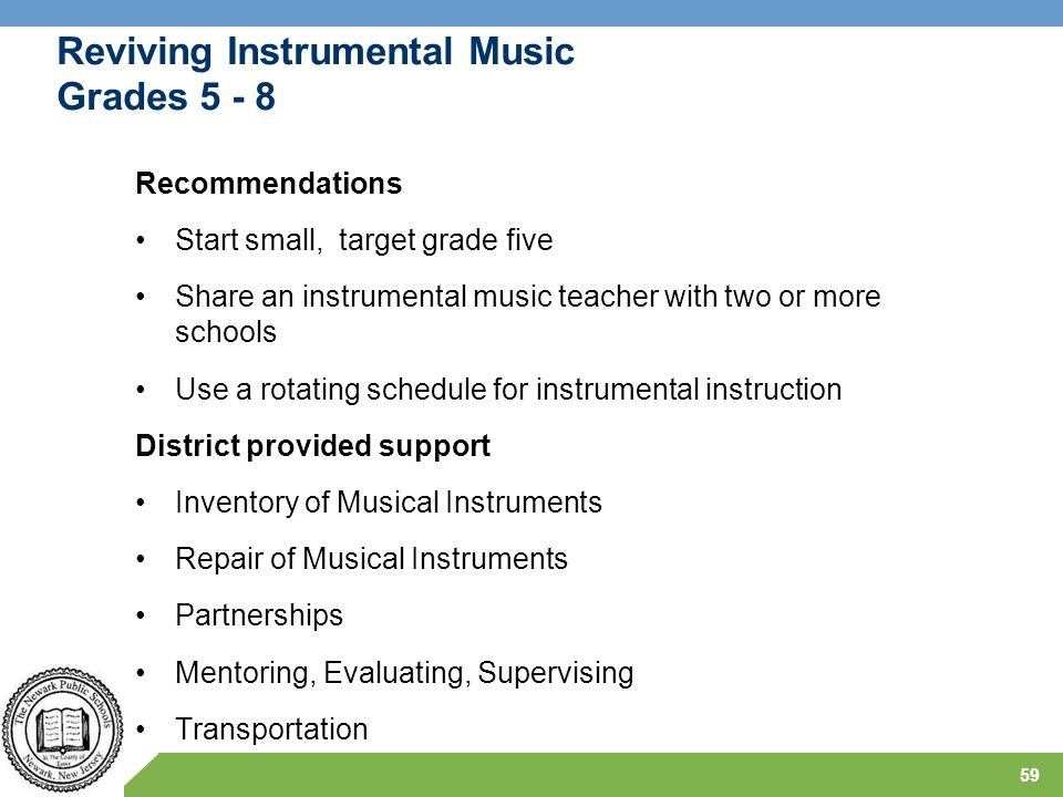 Reviving Instrumental Music Grades 5 - 8
