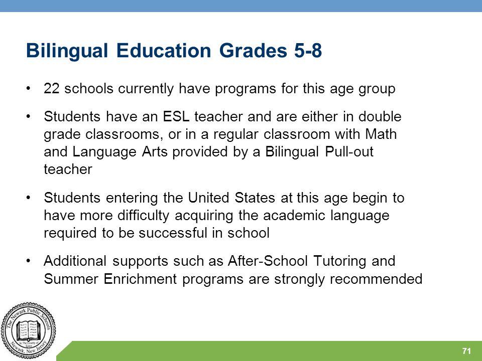 Bilingual Education Grades 5-8