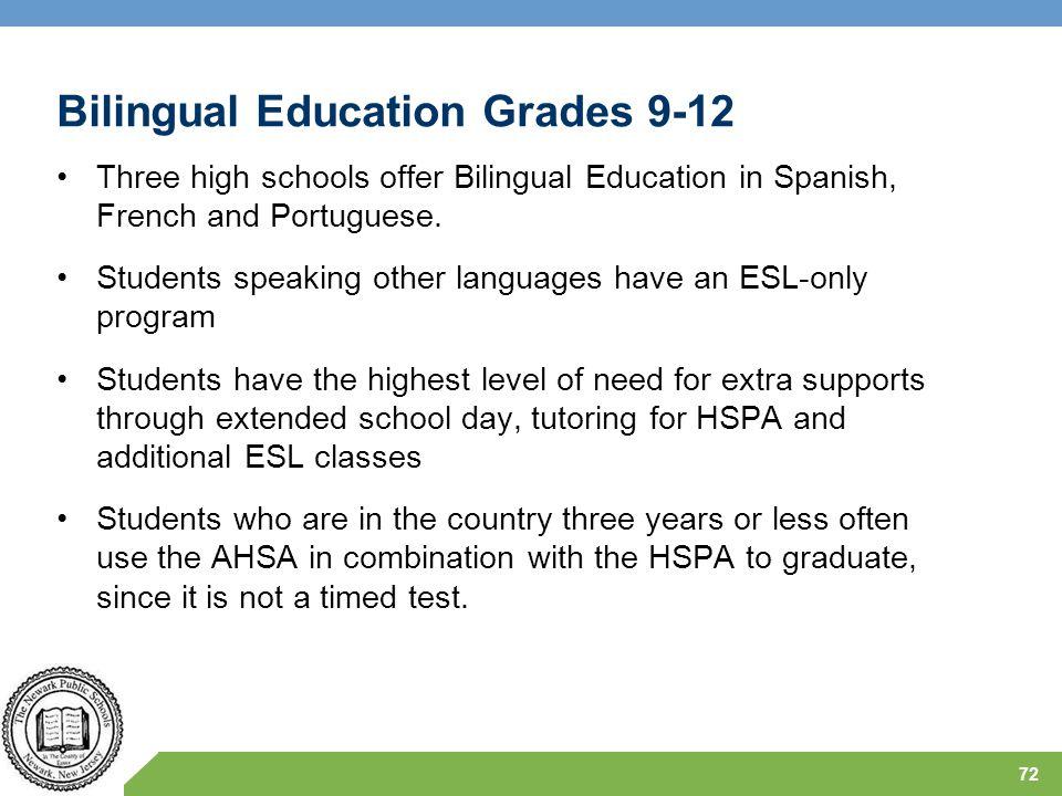 Bilingual Education Grades 9-12