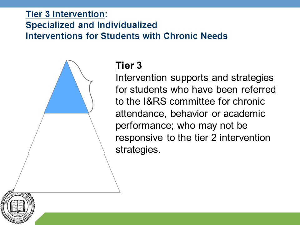 Tier 3 Intervention: Specialized and Individualized Interventions for Students with Chronic Needs
