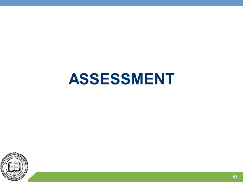 ASSESSMENT CALEB provides an introduction –