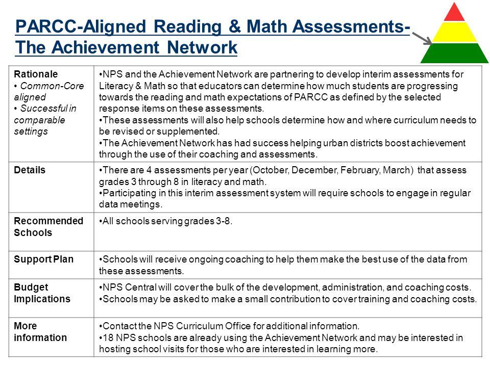 PARCC-Aligned Reading & Math Assessments-The Achievement Network
