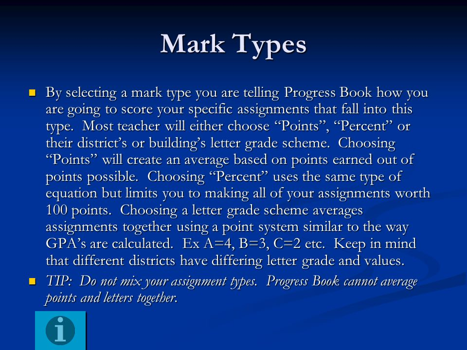 Mark Types