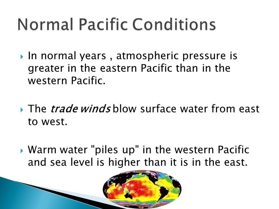 Normal Pacific Conditions