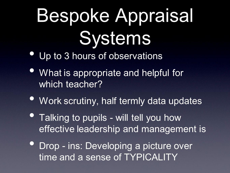 Bespoke Appraisal Systems