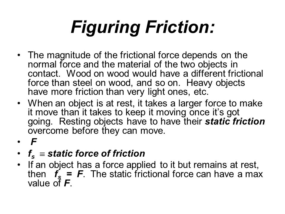 Figuring Friction: