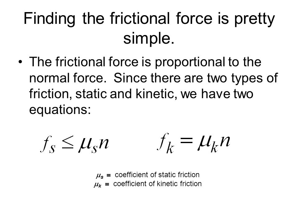 Finding the frictional force is pretty simple.