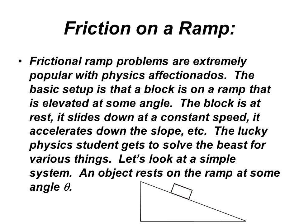 Friction on a Ramp: