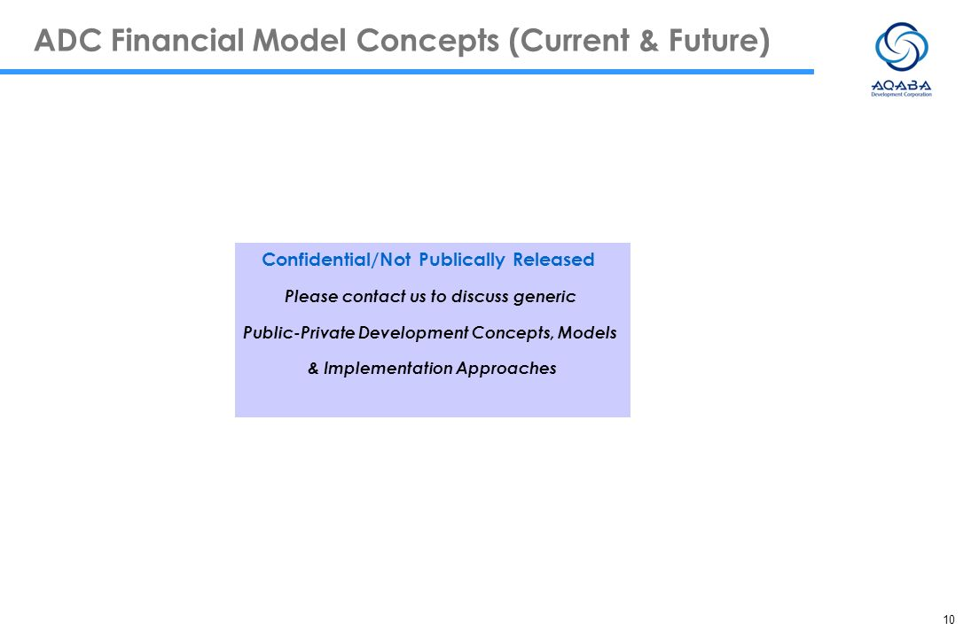 ADC Financial Model Concepts (Current & Future)