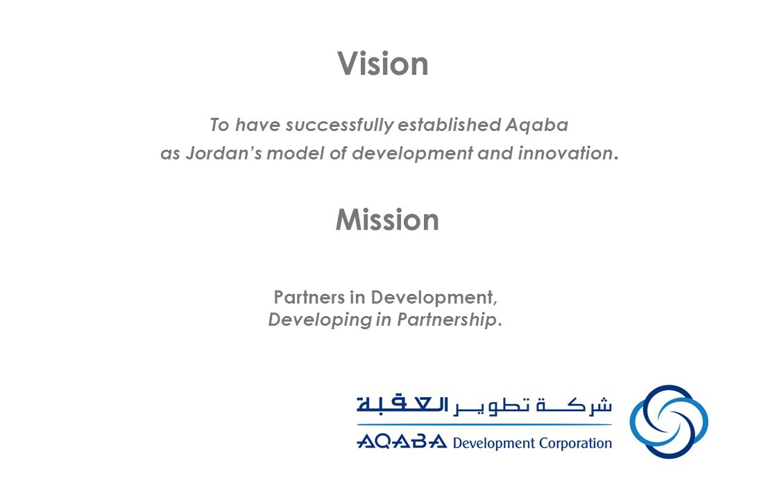Vision Mission To have successfully established Aqaba