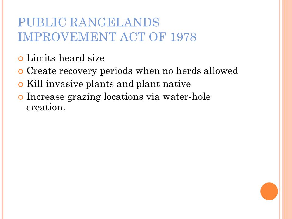 PUBLIC RANGELANDS IMPROVEMENT ACT OF 1978