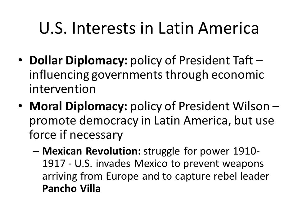 U.S. Interests in Latin America