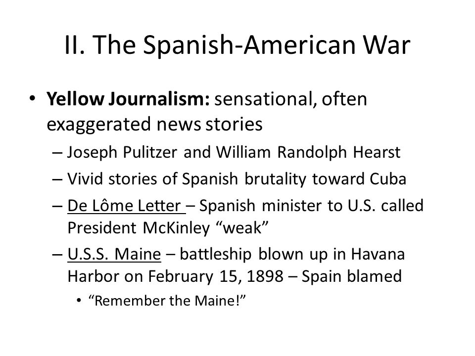 II. The Spanish-American War