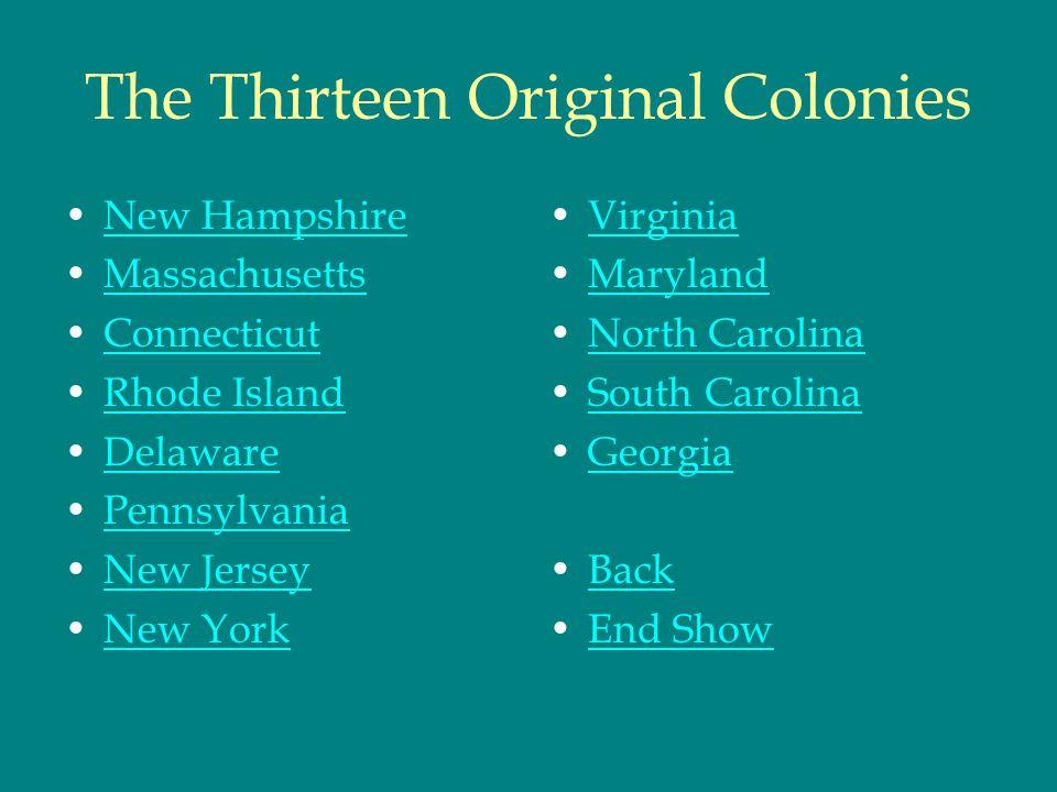 The Thirteen Original Colonies