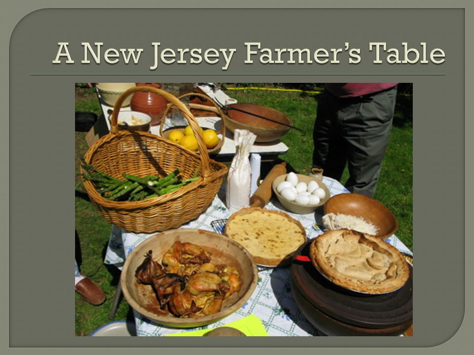 A New Jersey Farmer's Table