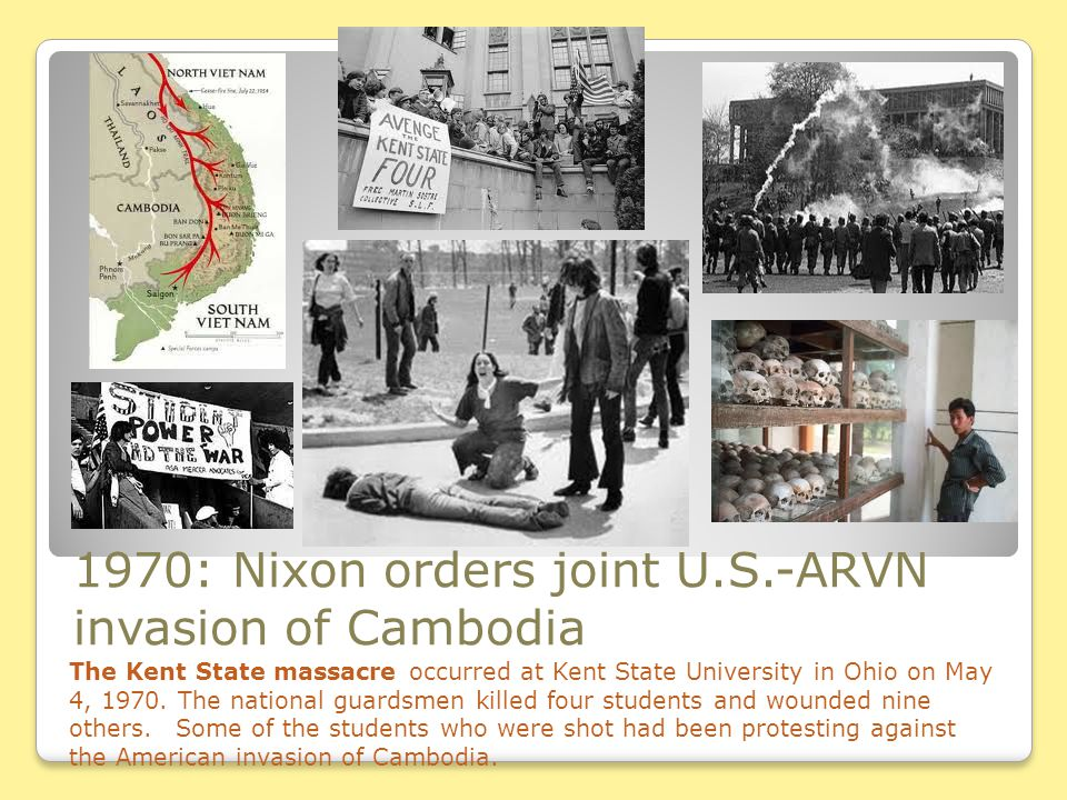 1970: Nixon orders joint U.S.-ARVN invasion of Cambodia