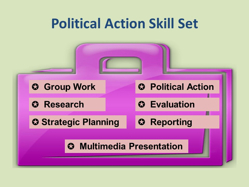 Political Action Skill Set