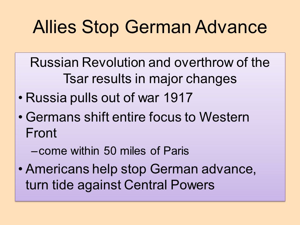 Allies Stop German Advance