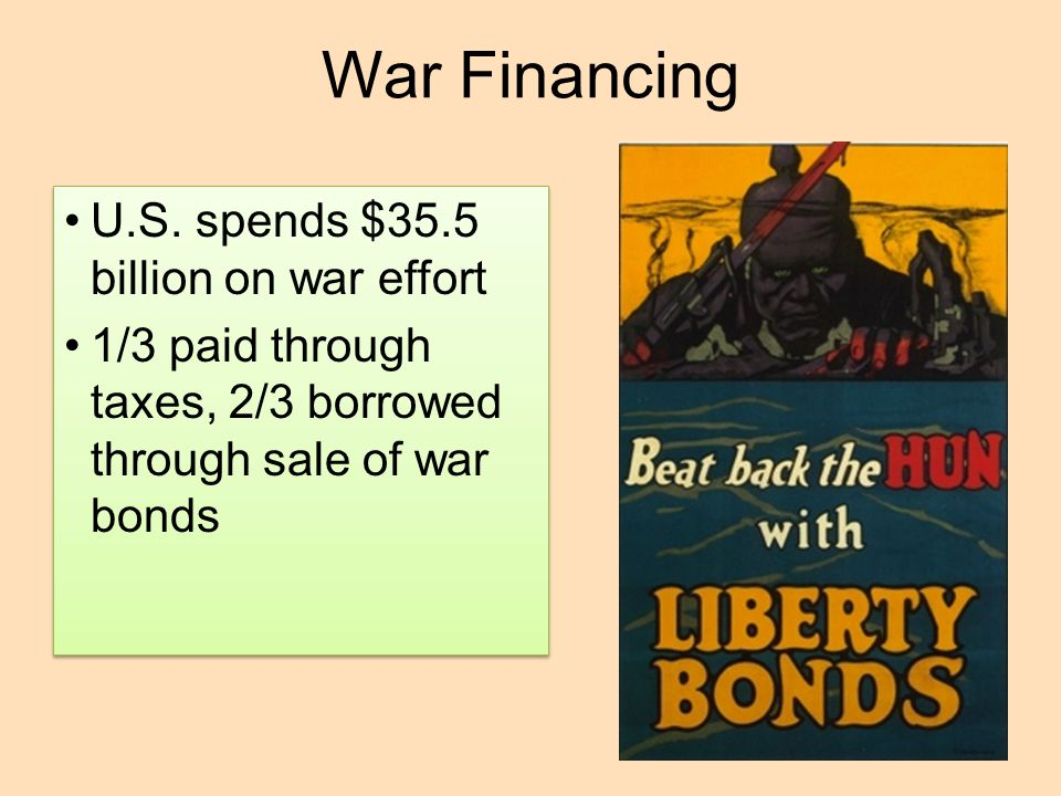 War Financing U.S. spends $35.5 billion on war effort