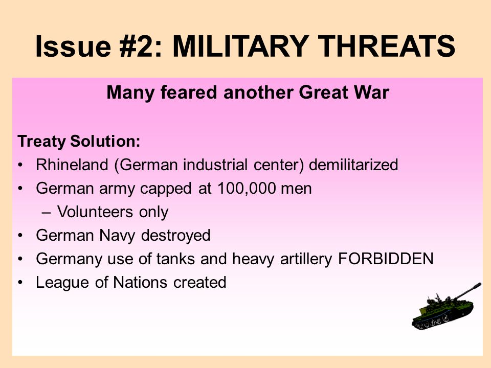 Issue #2: MILITARY THREATS