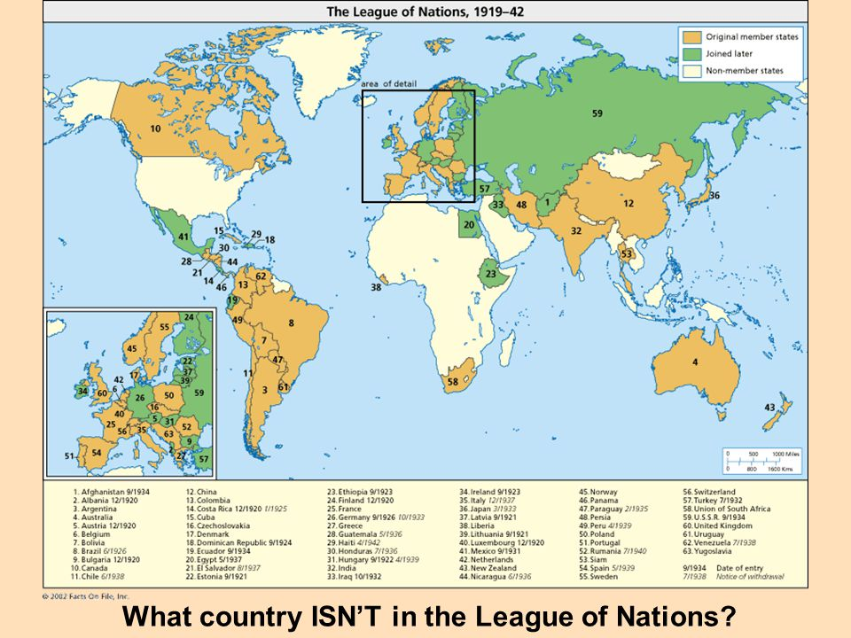 What country ISN'T in the League of Nations