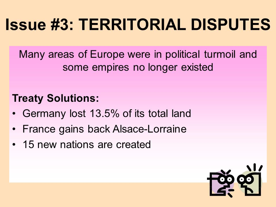 Issue #3: TERRITORIAL DISPUTES