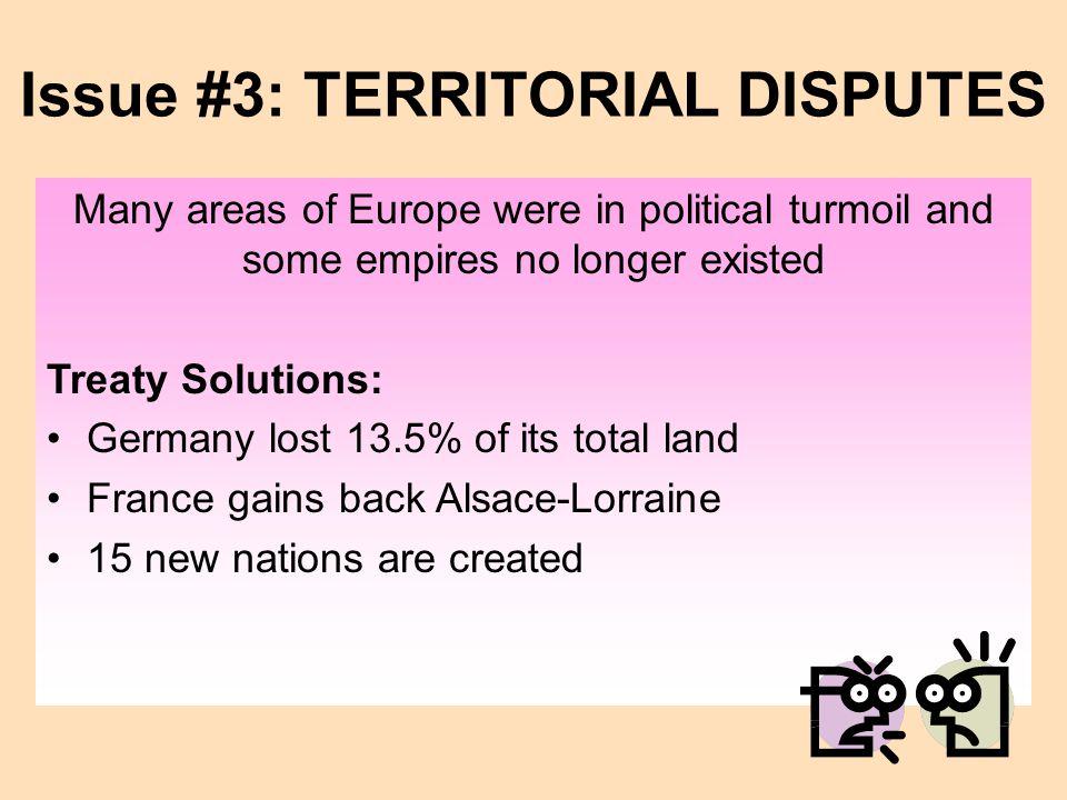 Issue #3: TERRITORIAL DISPUTES