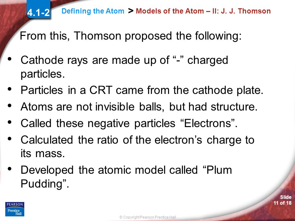 Models of the Atom – II: J. J. Thomson