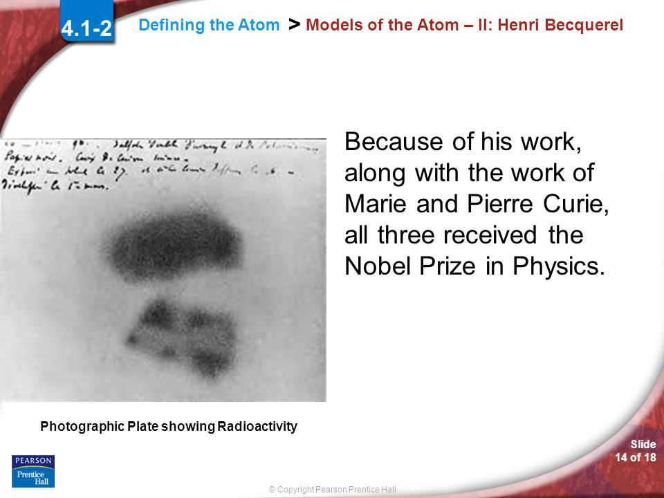 Models of the Atom – II: Henri Becquerel