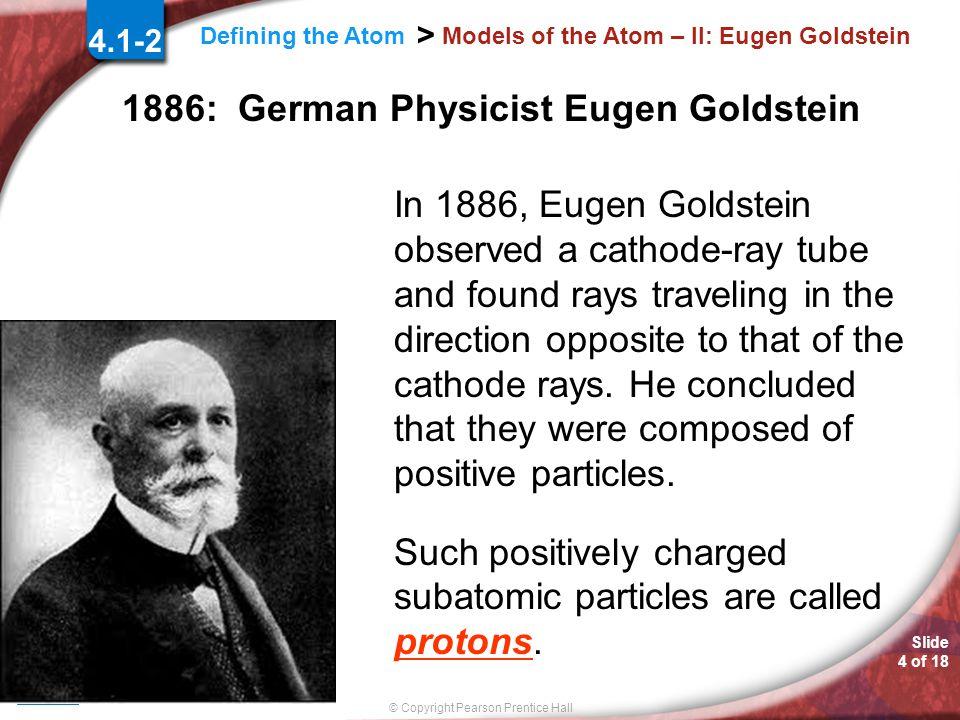 Models of the Atom – II: Eugen Goldstein